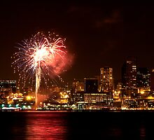 Fireworks in Seattle by Barb White