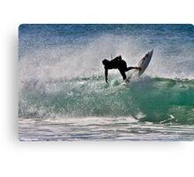 SilOUETTE surfer Canvas Print