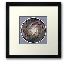 Brush Stroke Galaxy (Round) Framed Print