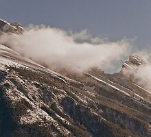 Mt Rundle - Kissed with a Cloud by eyeofgotham