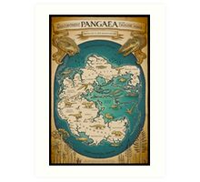 map of the supercontinent Pangaea Art Print