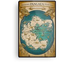 map of the supercontinent Pangaea Metal Print