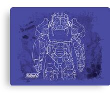Fallout 4 Blueprint Design Canvas Print