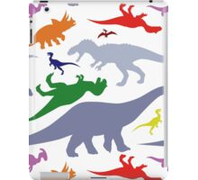 Colorful Dinosaurs Pattern (Light) iPad Case/Skin
