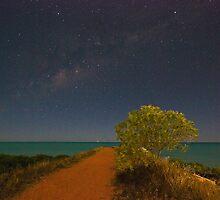 town beach night sky by Elliot62