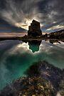 Bridgewater lagoon Sundown by Robert Mullner