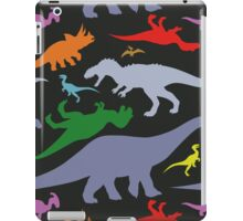 Colorful Dinosaurs Pattern (Dark) iPad Case/Skin