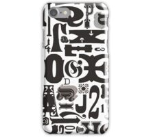 Wood Type Collage iPhone Case/Skin