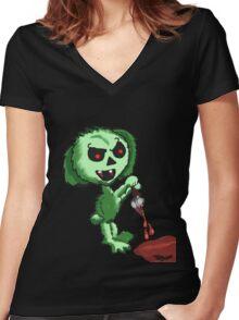 Demon Easter Bunny Women's Fitted V-Neck T-Shirt