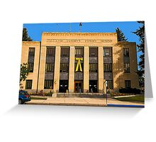 Gallatin County (Montana) Court House Greeting Card