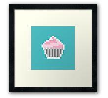 Pink Pixel Cupcake Framed Print