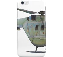Helicopter Indian Air Force Naive Painting iPhone Case/Skin