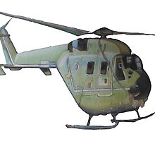 Helicopter Indian Air Force Naive Painting by rooosterboy