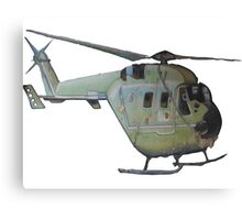 Helicopter Indian Air Force Naive Painting Canvas Print