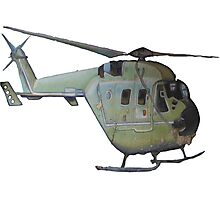 Helicopter Indian Air Force Naive Painting Photographic Print