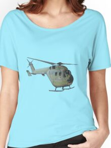 Helicopter Indian Air Force Naive Painting Women's Relaxed Fit T-Shirt