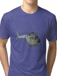 Helicopter Indian Air Force Naive Painting Tri-blend T-Shirt