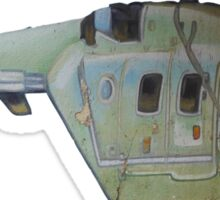 Helicopter Indian Air Force Naive Painting Sticker