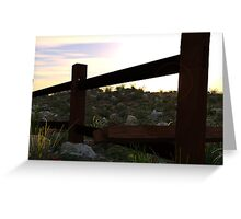Fence Scene Greeting Card