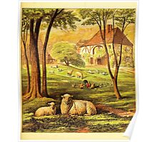 Aunt Louisa's Nursery Favorite by Laura Valentine art Kate Greenaway 1870 0129 Animals by the House Poster