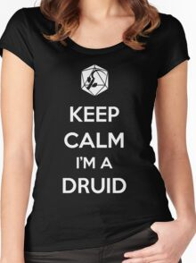 Keep Calm I'm a Druid Women's Fitted Scoop T-Shirt