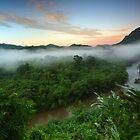 Sunrise at Rainforest-South Borneo by Aulia  Rahman