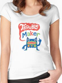 Trouble Maker  Women's Fitted Scoop T-Shirt