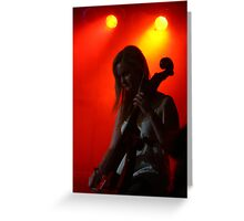 Celloist, Lumiere. Greeting Card