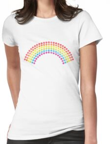 Vintage Dotted Rainbow Womens Fitted T-Shirt
