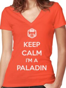 Keep Calm I'm a Paladin Women's Fitted V-Neck T-Shirt