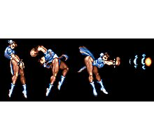 Chun Li Fireball Horizontal Photographic Print