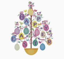 Easter Egg Tree T-Shirt by Jamie Wogan Edwards