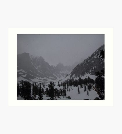 A snowstorm is going to hit heavily Art Print