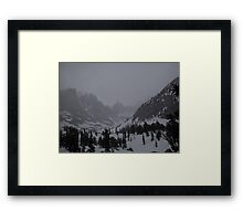 A snowstorm is going to hit heavily Framed Print