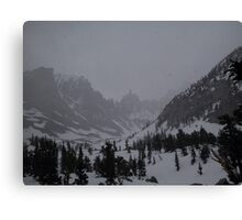 A snowstorm is going to hit heavily Canvas Print
