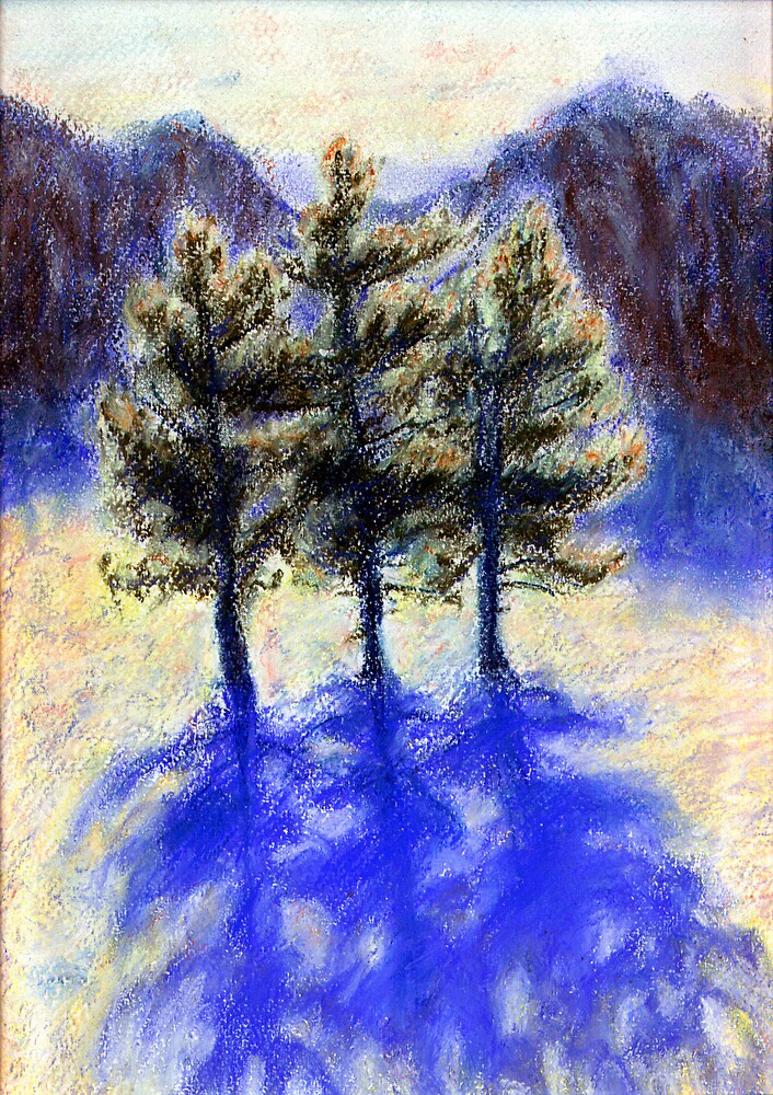 Three Pines. Snow in Virginia by Linandara
