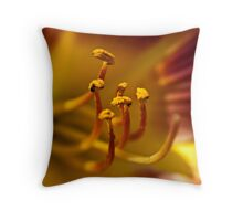 Daylilly stamens Throw Pillow