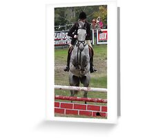 Moss Vale District Showjumping 7 Greeting Card