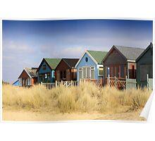 Coastal Beach Huts Poster
