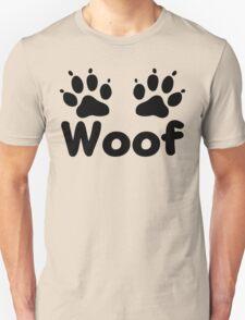 Woof Dog Paws Unisex T-Shirt