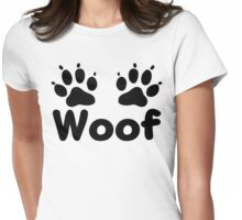 Woof Dog Paws Womens Fitted T-Shirt