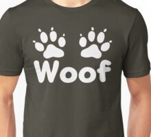 Woof Dog Paws (Dark) Unisex T-Shirt