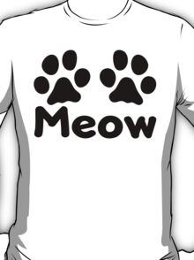 Cat Paw Meow T-Shirt