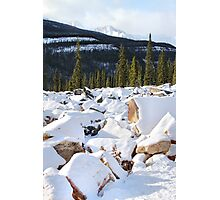 Autumn in The Rockies: The First Snow: Jasper National Park Photographic Print