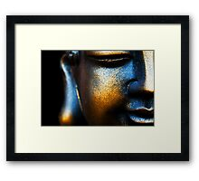 BLUE AND GOLD BUDDHA Framed Print