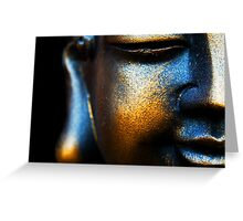 BLUE AND GOLD BUDDHA Greeting Card