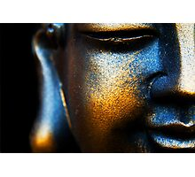 BLUE AND GOLD BUDDHA Photographic Print