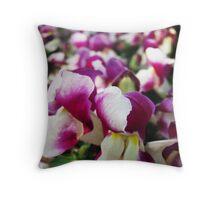 Purple and White Colour. Throw Pillow