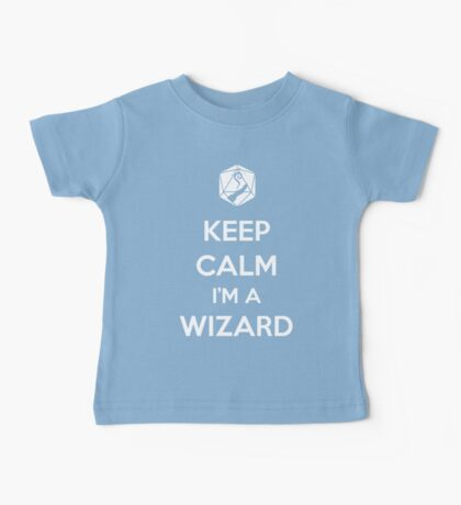 Keep Calm I'm a Wizard Baby Tee