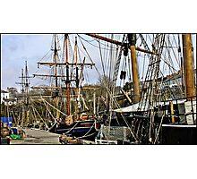 """ Charlestown Harbour Cornwall"" Photographic Print"